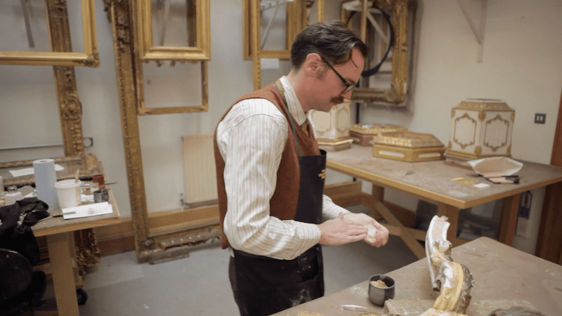 Furniture gilding at the Royal Collection