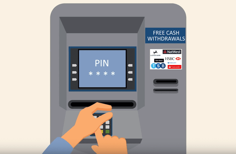 How To Use A Cash Machine animation